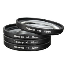 52mm Macro Close Up Filter Lens Kit +1 +2 +4 +10 for Canon Nikon DSLR SLR Camera