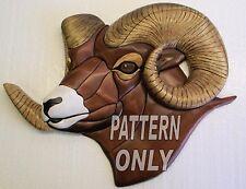NEW ~ INTARSIA WOOD PATERN  ~    BIG HORN SHEEP