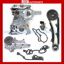 "78-82 TOYOTA 2.2L 2.4L DOUBLE ROW TIMING CHAIN COVER WATER PUMP KIT ""20R, 22R"""