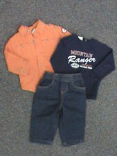 NWT Mountain Ranger 3-pc Jeans, Navy Blue Top, Orange Corduroy Shirt Lot 12 mo