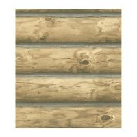 Log Wallpaper! Rustic Cabin Lodge CH 7977 Pre-Pasted Double Roll