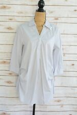 NWT Ingrid & Isabel Maternity - Light GRAY striped long cotton TUNIC shirt, XS