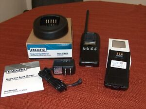 KENWOOD TK-2180 VHF PORTABLE RADIO USED W NEW CHARGER & NEW BATTERY