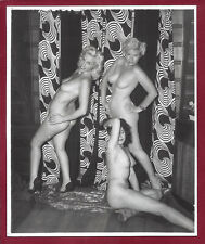 1950s Vintage Nude Photo~Big Firm Perky Breasts Perfect Body Sultry Pinups Strip