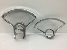 "1955 1956 Chevy Used ""Re-Chromed"" Instrument CLUSTER DASH BEZEL SET  Stan Trans."