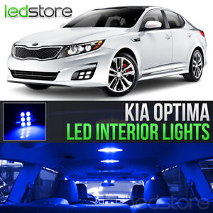 Blue LED Lights Interior Kit Package Bulbs For 2011-2018 Kia Optima