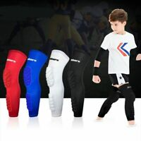 Kids Compression Sports Long Kneepad Leg Sleeve Teenagers Honeycomb Knee Support