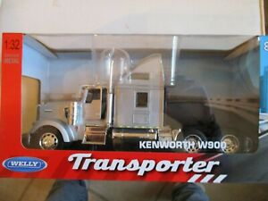 MINIATURE CAMION KENWORTH W 900 1/32 WELLY GRIS