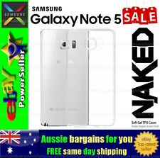Samsung Galaxy Note 5 Clear Soft Gel TPU flexible clear fitted case cover skin