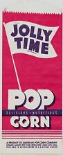 Jolly Time Unused Vintage Colorful Popcorn Bag American Popcorn Co Sioux City,Ia