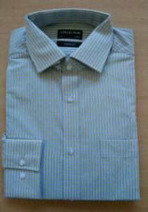 MENS Classic Fit LONG SLEEVED SHIRT EX DEBENHAMS COLLECTION SIZES 15 - 19.5