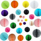 Tissue Paper Pom Poms Honeycomb Ball Wedding Party Room Festival Decoration Gift