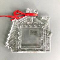 Mikasa Winter Magic Chalet Frame Crystal Xmas Ornament TB159/568