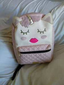LUV BY BETSY JOHNSON PINK UNICORN SCHOOL LARGE BACKPACK
