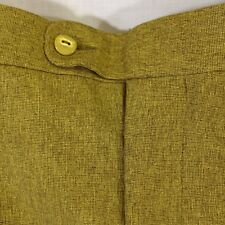 Smokey Joes Gold Sparkle Pleated Dress Pants Cuffed Hem Baggy Size 56L x 32
