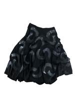 Luna Luz Womens Dress Skirt Lagenlook Gathered Print Tie-Dye Batiste Black Large