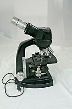 Vintage Bausch Amp Lomb Binocular Microscope 41040 100x Withlight As Is