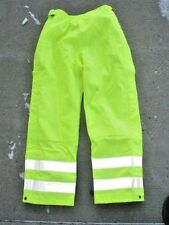 New L Mens Carhartt B214Blm Lime Green Safety Waterproof Pants Class E Level 2