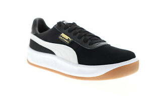 Puma California Casual 36660806 Mens Black Leather Lifestyle Sneakers Shoes
