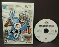 Madden 13 NFL Football - Nintendo Wii Wii U Game Tested + Works 1-4 player game