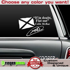 FLAT OUT decal sticker vinyl subaru wrx wrc rally impreza colin mcrae quote jdm