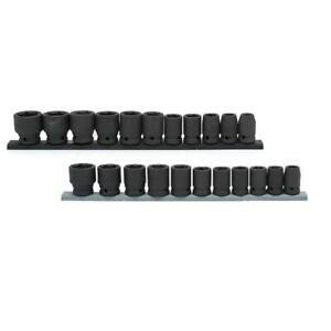 Husky Socket Set 1/2 In Drive 6 Point Sockets Tools Standard SAE MM 22 Piece New
