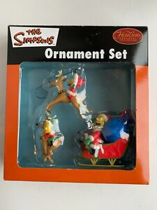 The Simpsons Christmas Holiday 3 Piece Ornament Set - Heirloom Collection 2005
