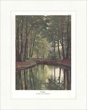 Waldsee Georg Marschall Bäume Bach Grün Blätter Wasser Park coloriert ED 0266