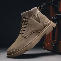 Men's Casual Outdoor Ankle Boots Fashion Army High Top Suede Walking Shoes Gym