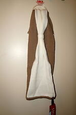 LULU by LULU GUINNESS Knit Bow Infinity Scarf Tan/Ivory Colorblock New With Tag