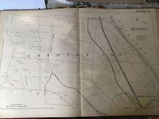 COPY OF 1885 PINE GROVE BRISTOL TOWNSHIP BUCKS & WARREN COUNTY PA PLAT ATLAS MAP