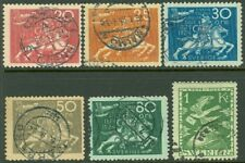 Edw1949Sell : Sweden Sc #200/209. 6 Diff All Vf Used with nice cancels Cat $285