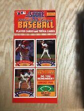 1988 Score Baseball Uncut Sheet From Box Feat. Don Mattingly