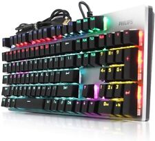 Tastiera meccanica Philips Gaming RGB Switch Blue Usb gold plated Momentum