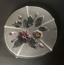 MIKASA CAKE PLATE STAND PLATTER CRYSTAL VINTAGE FROSTED