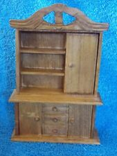 Miniature Dollhouse EHI Wood Stained Kitchen Hutch