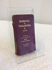 HORSES IN TRAINING - published by H. A. Buck - 1936