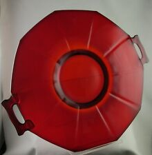 IMPERIAL RUBY MOLLY 725 LINE 2 HANDLED 12 INCH DIAMETER PLATE 1920S