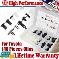 146Pcs For Toyota Fender Door Hood Bumper Trim Door Panel Clip Retainer Fastener