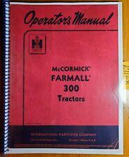 Ih International Mccormick Farmall 300 Tractor Owners Operators Manual R3 855