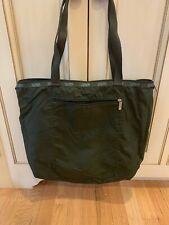 """LeSportsac nolita tote Bag 7815 olive green 18"""" wide by 16"""" tall 12"""" handle dro"""