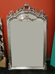 Custom Made 150 x 92 cm Large Gold Silver Bevelled Mirror Frame Antique Norman