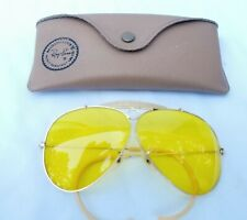 8d5fa6a0a8 VTG B L RAY BAN AMBERMATIC SHOOTING AVIATOR SUNGLASSES WRAP-AROUND