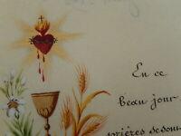 IMAGE PIEUSE HOLY CARD  GOUACHE  SACRE COEUR ENLUMINURES