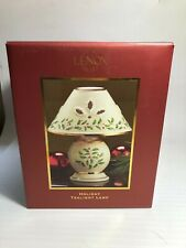 LENOX Holiday Tealight Lamp Christmas Holly Berry Candle Holder in Original Box