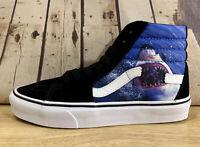 Vans x Discovery Shark Week Sk8 Hi Black Blue High Top Skate Shoes Men's Size 5