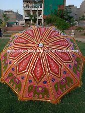 """Hippie Garden Parasol Embroidered Indian Outdoor Sun Shade Patio Umbrella 72"""""""