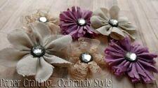 Handmade Fabric Flowers Scrapbooking card making Paper Crafting.Ocbrandy Style p