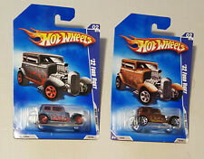 2009 Lot (2) Hot Wheels #138 '32 Ford Vicky Cars - Paint / Base / Rim Alts