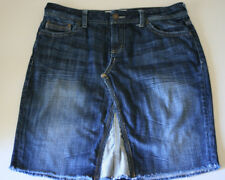 MAURICES Size 9 10 Blue Denim Jean Skirt Knee Length Morgan EUC